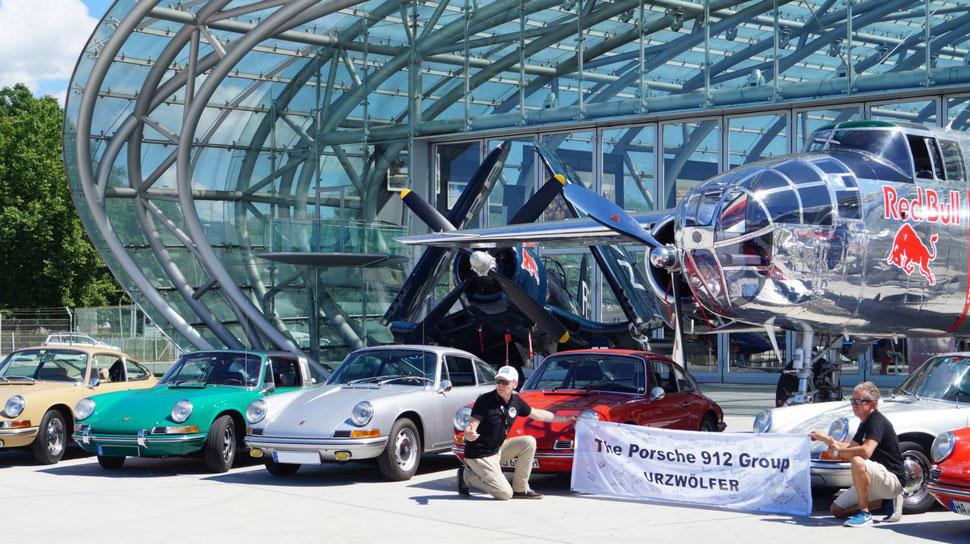 Porsche 912 Group Urzwölfer bei den Flying Bulls in Salzburg.