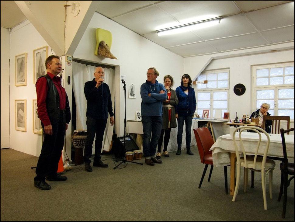 Eröffnung es 17. Forum Art & Sound durch Hardy Döhrn mit Johannes Lenhart, Bertolt Mohr, Andrea Mohr, Claudia van Koolwijk