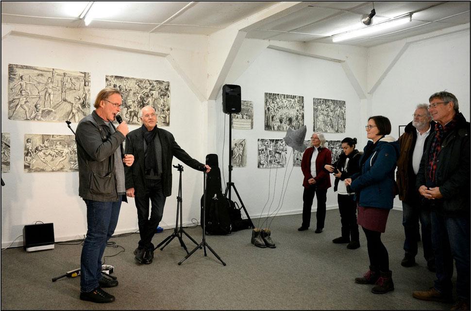 Eröffnung des 18. Forum Art & Sound durch Hardy Döhrn mit Bertolt Mohr