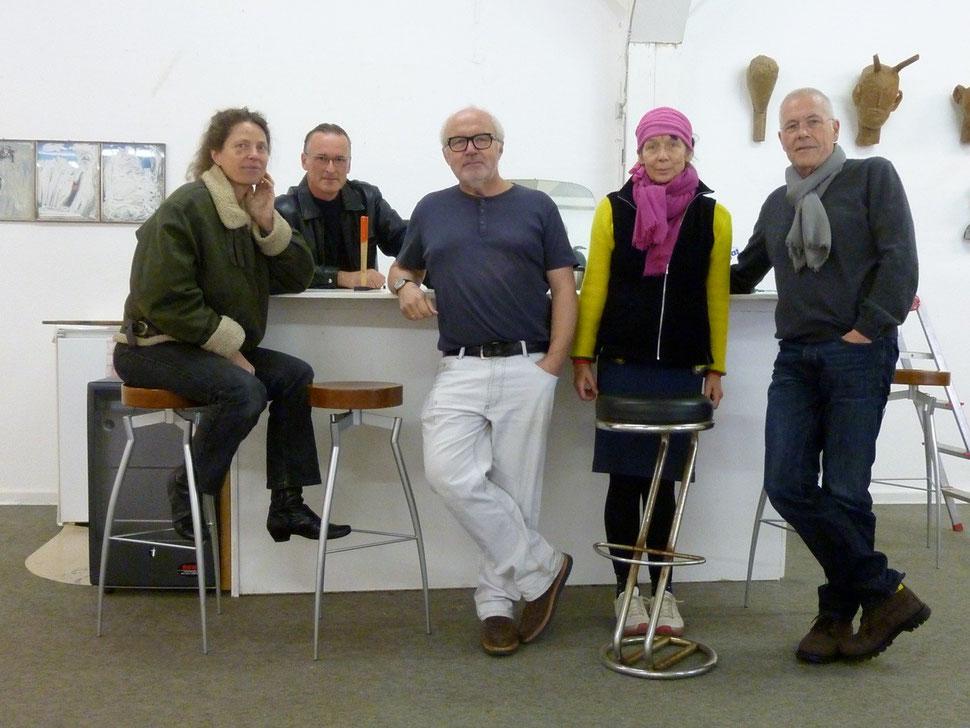 Forum Art & Sound Nr. 16 (von links: Andrea Mohr, Bertolt Mohr, Ernst Hesse, Irmel Droese, Hardy Döhrn)