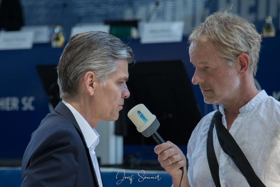"""Ingo Wellenreuther im Interview mit einem """"SWR-Reporter"""""""