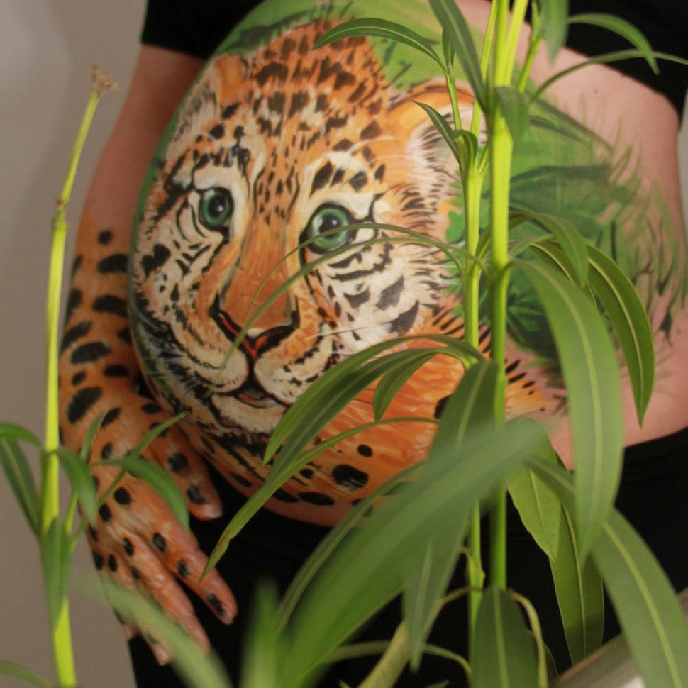 "Bellypainting ""Kleiner Tiger"", Fotoshooting: Anne Benz"
