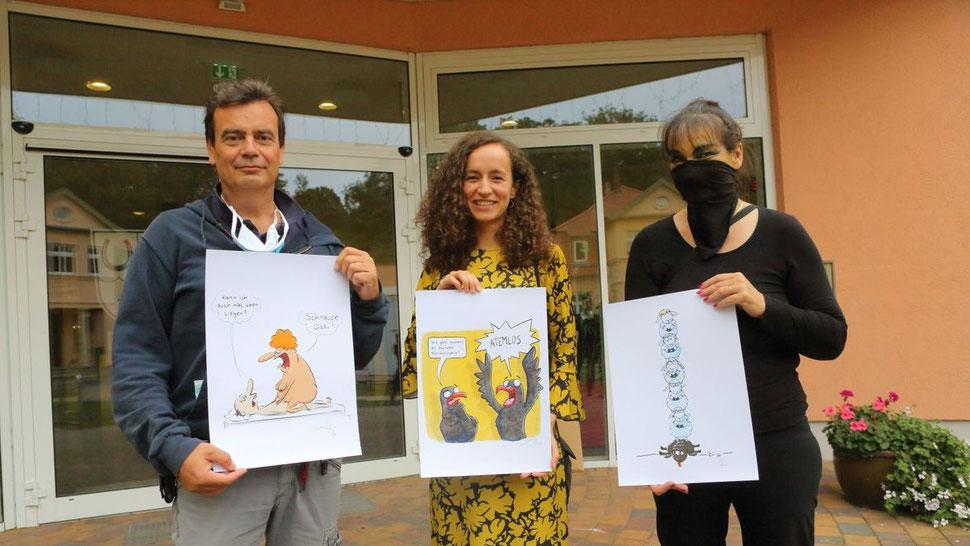 Preisverleihung Cartoonpreis Hoppegarten