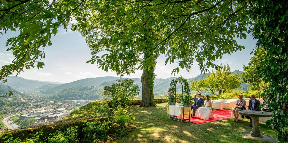 Freie Trauung auf Burg Eberstein – Foto von Stephan Kaminski