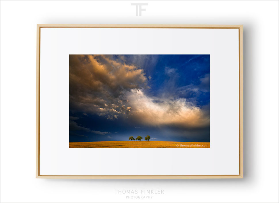 Fine art photography, landscape, wall art, colorful, sky, dramatic, cloudscape, trees, blue, orange, limited edition, framed, prints, for sale