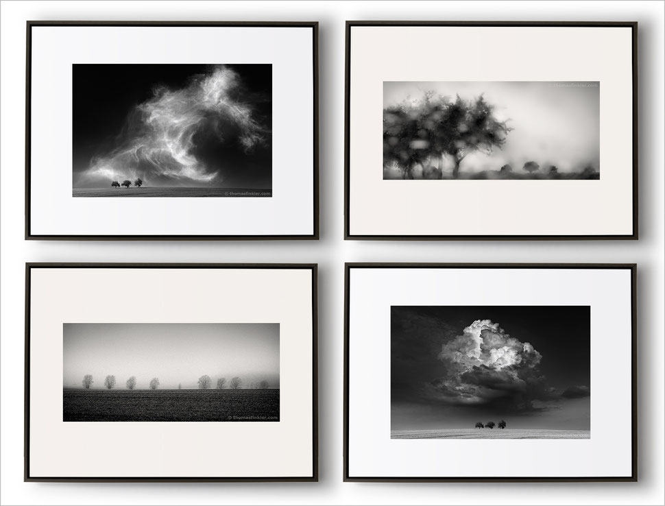 Framed Photographic Prints And Fine Art Photography In Black White With Wooden Frames