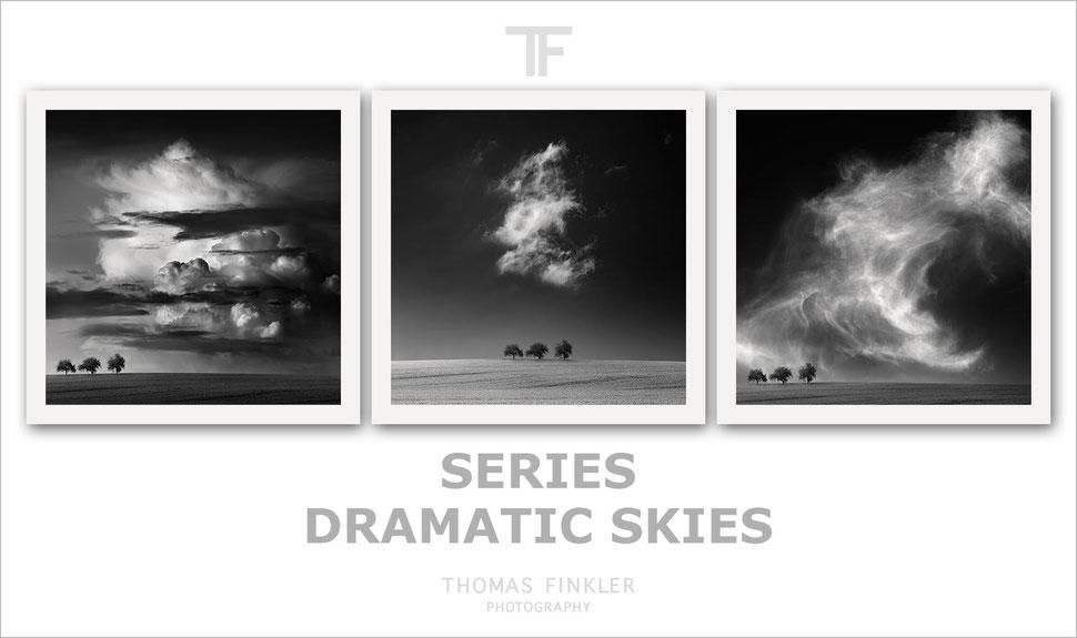 Fine art, photography, black and white, monochrome, nature, landscape, sky, cloud, cloudscape, trees, series, limited edition