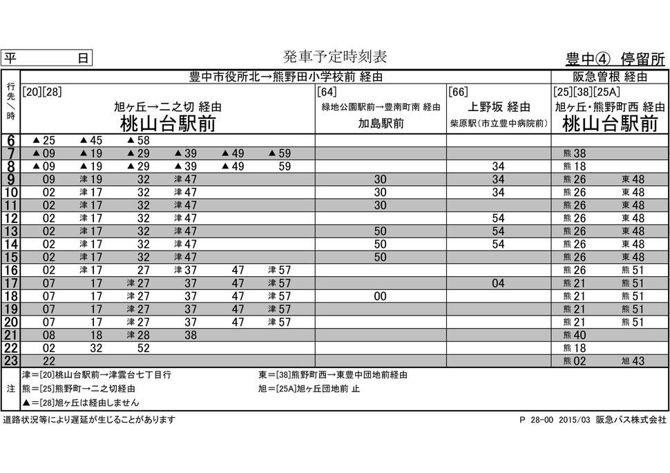 阪急バス 時刻表