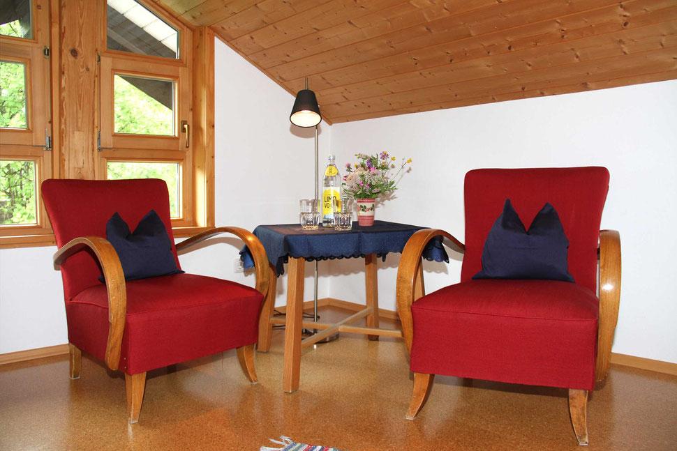 Ferienwohnung Edelweiss in Hirschegg im Kleinwalsertal, Edelweiss, Berns Singer, auf der Empore