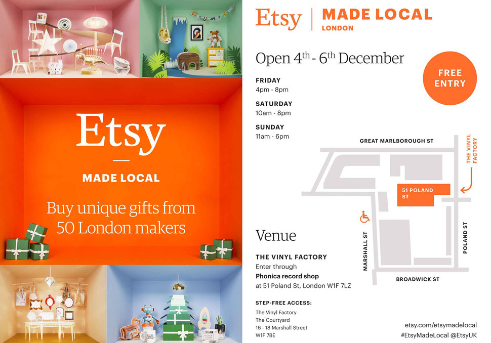 Etsy Made Local the London Event Invitation