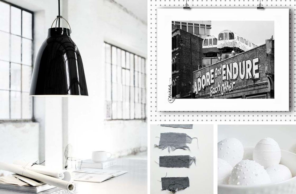 Inspirational Board 'Adore Industrial', images via PASiNGA and Pinterest