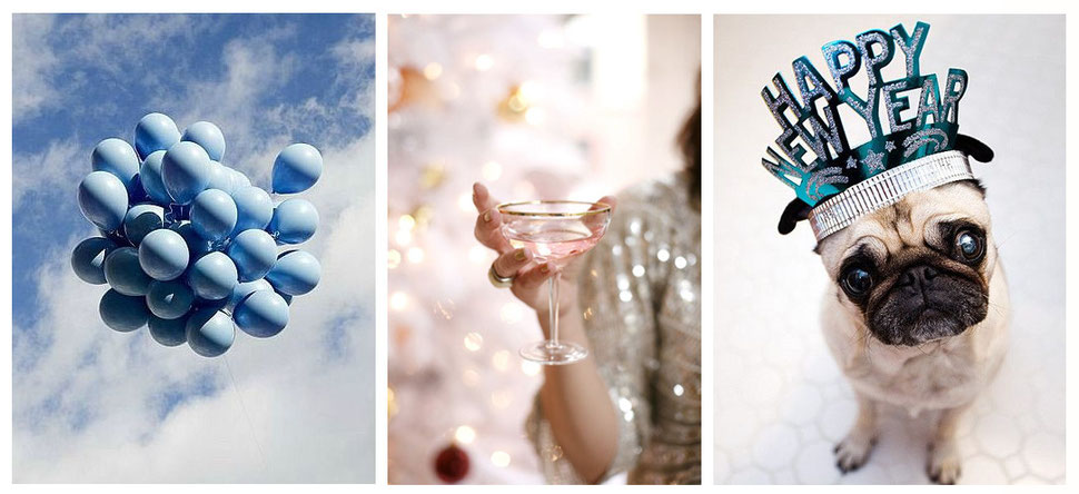 Happy Holidays and a wonderful New Year 2015, moodboard collection with images via Pinterest