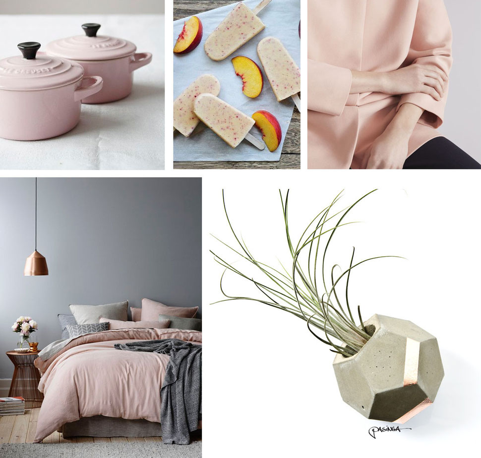 October Peach Collection with images via Pinterest and PASiNGA