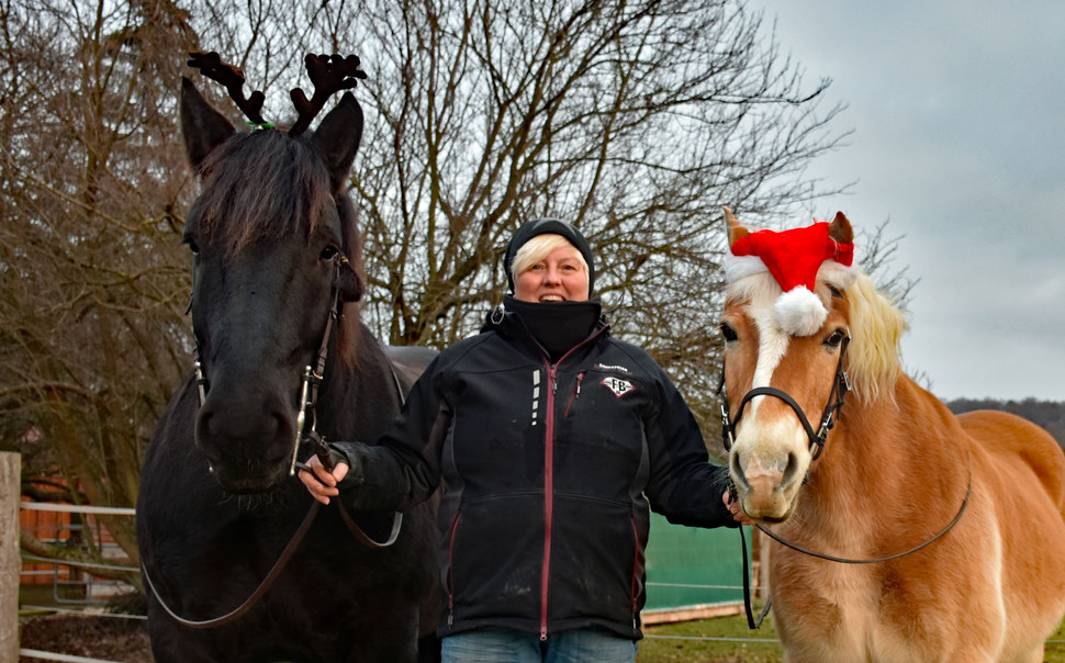 Willi, Amor, Paula, Fine, Gerret und ich wünschen fröhliche Weihnachten!!!