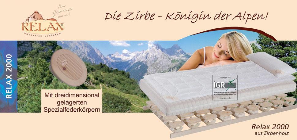 Relax 2000 aus Zirbenholz