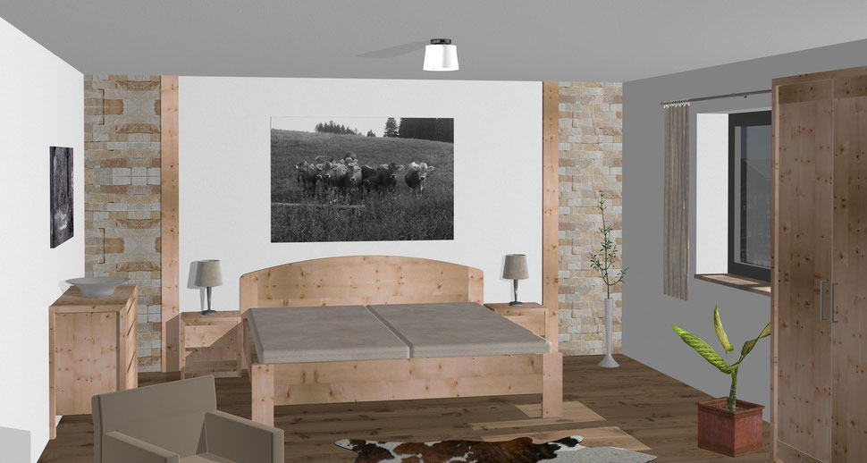 Zirbenholz Schlafzimmer - Möbelmanufaktur Gruber Zirbenbett