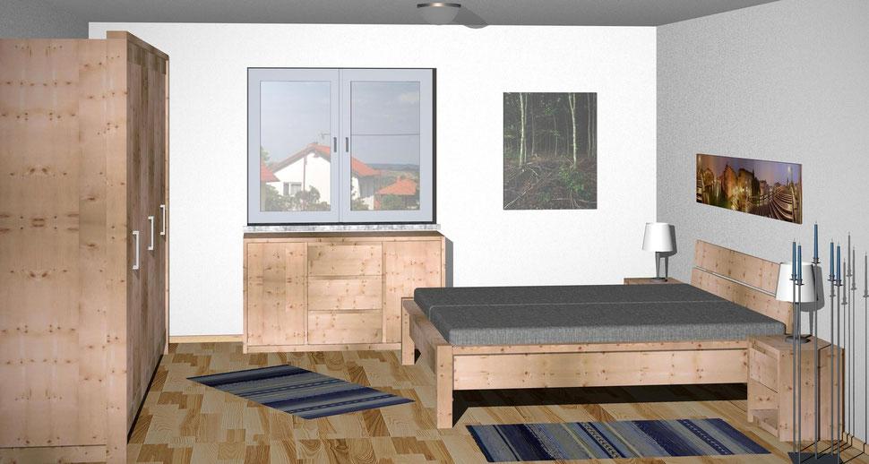 Bild: Zirbenholz Schlafzimmer