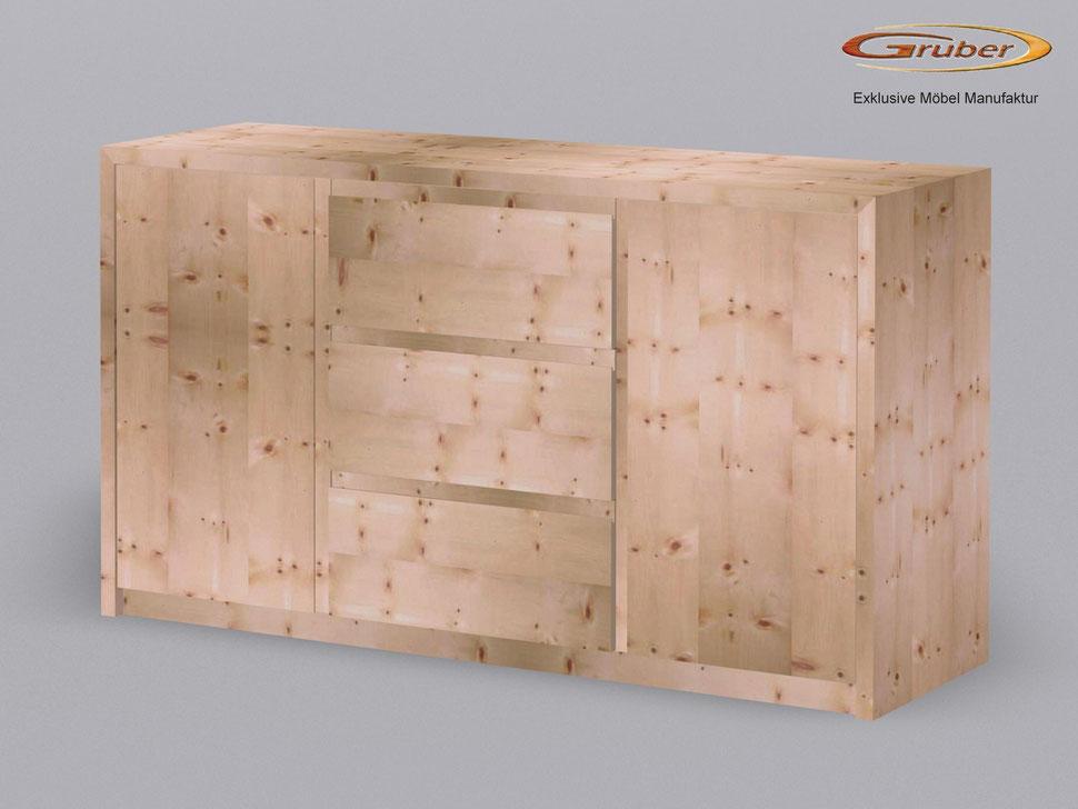 Zirbenholz kommode m belmanufaktur gruber zirbenbett for Kommode zirbenholz