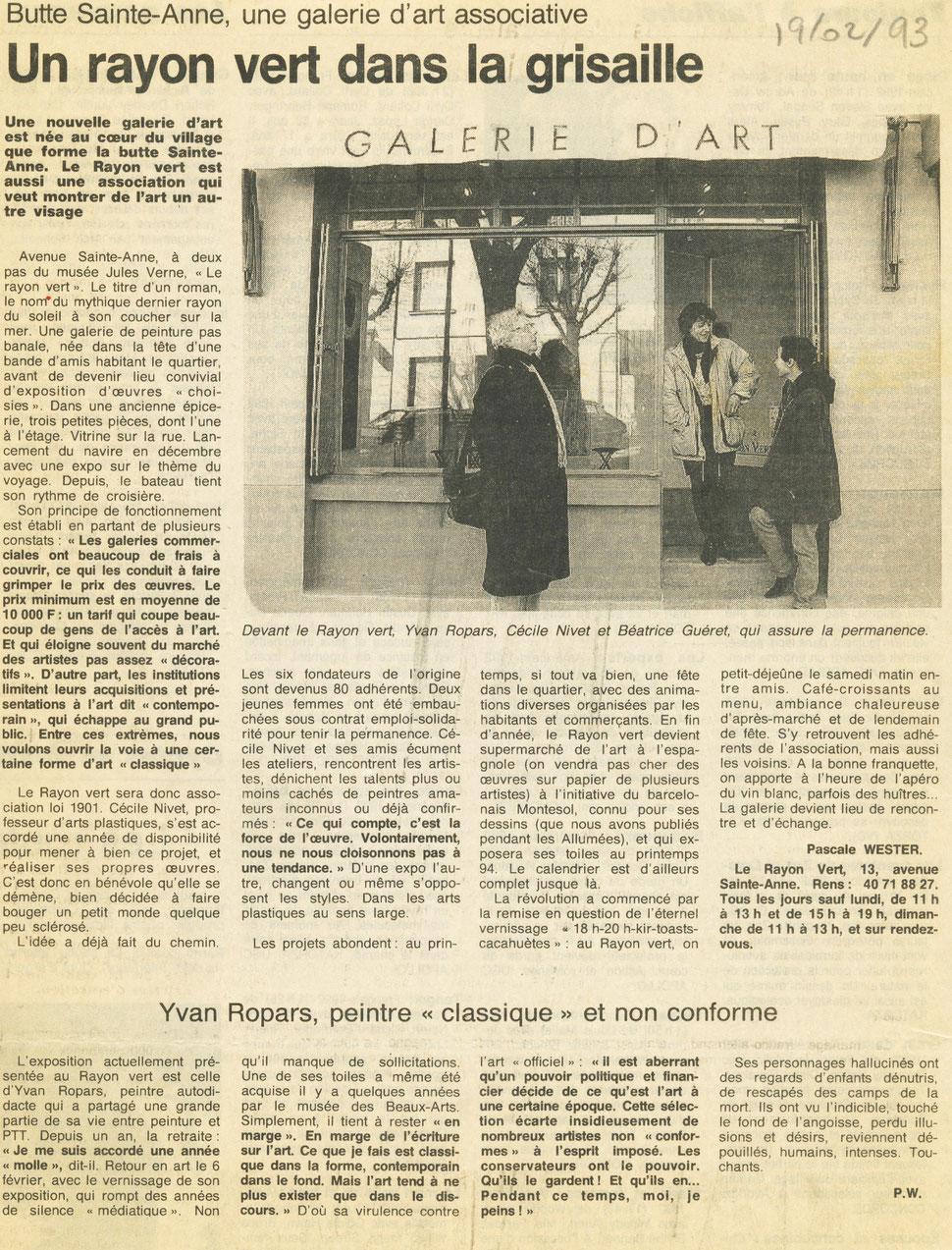 Ouest-France 19 février 1993