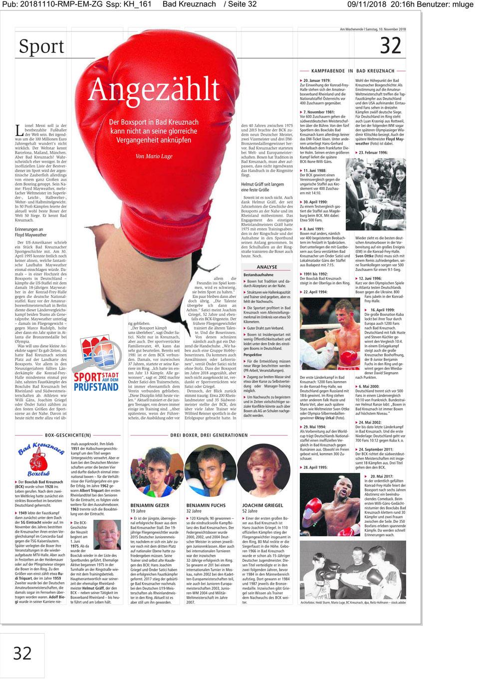 Sportredaktion Allgemeine Zeitung