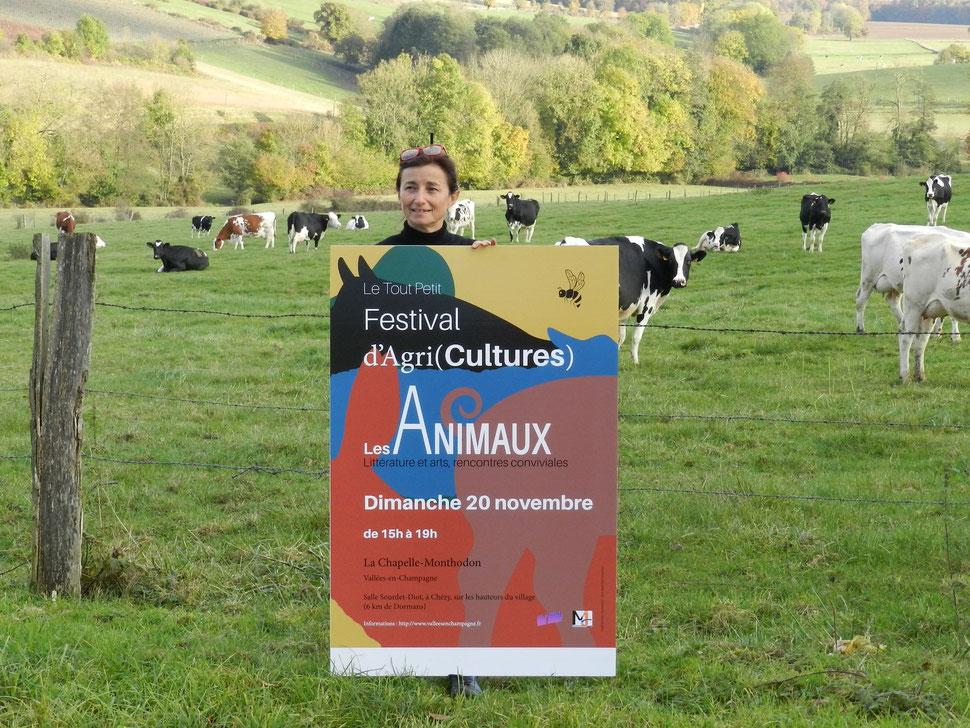 Catherine Tambrun, co-organisatrice du Tout Petit Festival d'Agri(Cultures)