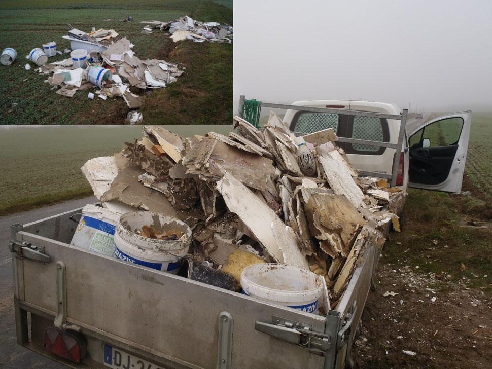 Ces ordures vont nécessiter un traitement spécifique à la déchèterie de Condé-en-Brie.