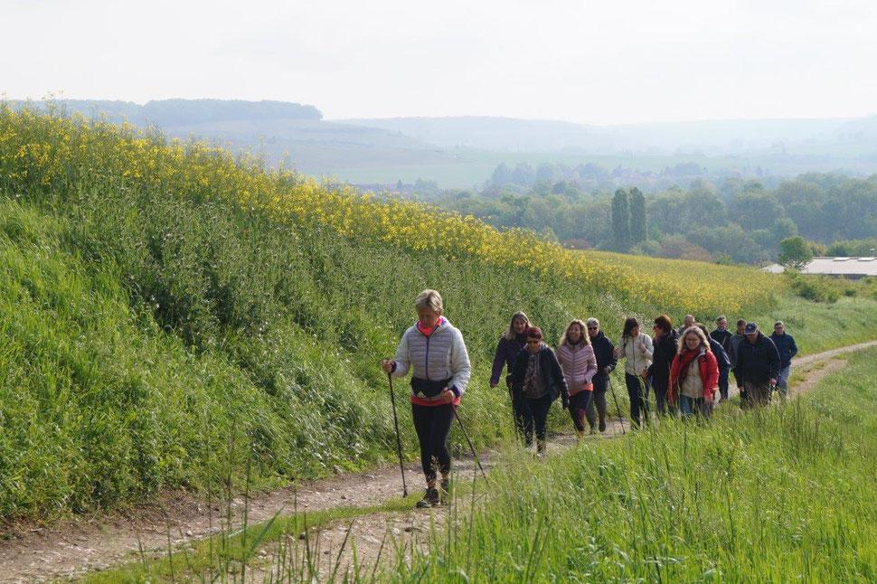 La première randonnée pédestre de l'ASMACT s'est déroulée le 1er mai 2018 au départ de Condé-en-Brie.