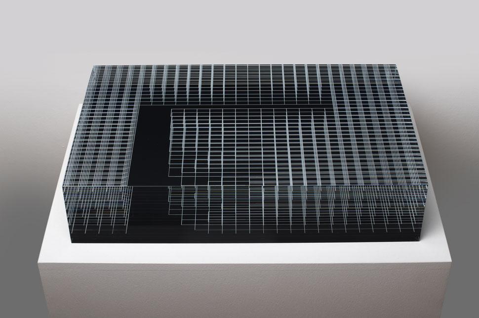 Reservoir  | glued, cut, hand drawn, polished glass | 30 x  50 x 11 cm | 2017