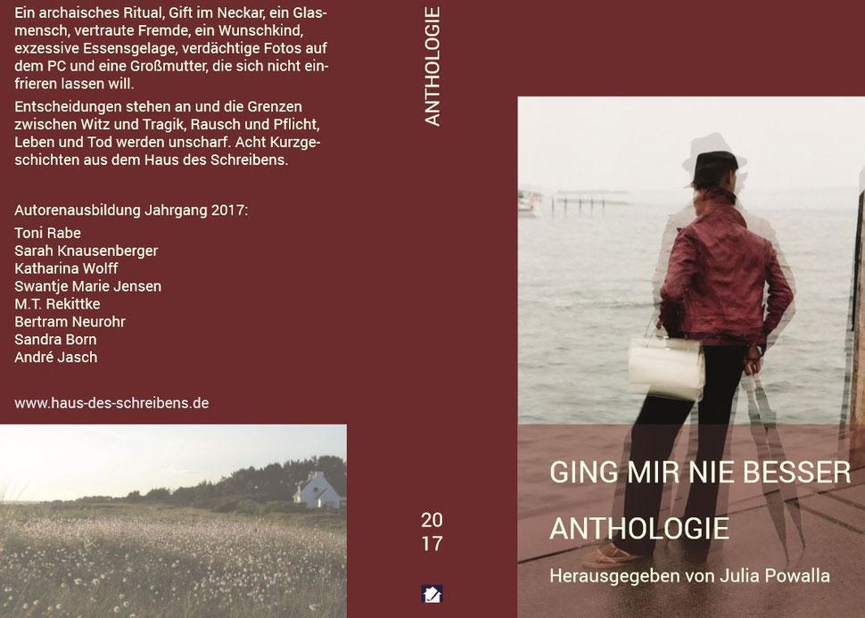 Cover der Anthologie 2017