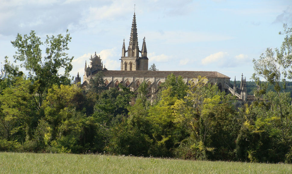 2010, Cathédrale de Bazas, vue du plateau.