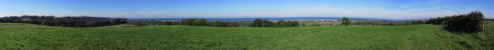 Panorama depuis le mont Pierre - Bréville-sur-Mer