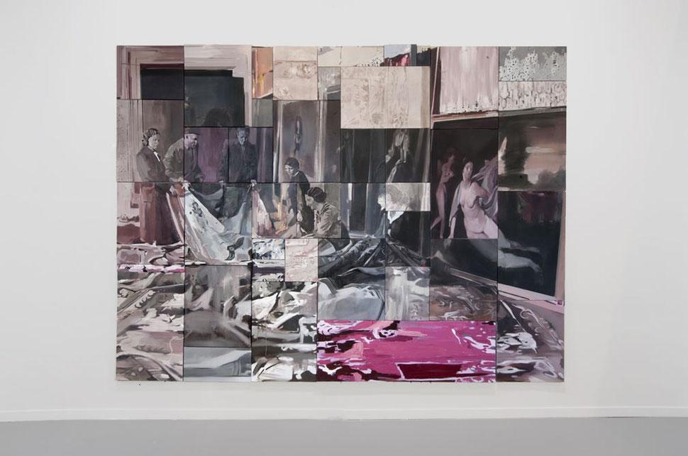 41 ways: El rapto de Europa. Oil on linen. Poliptych 230 x 340 cm. 2015