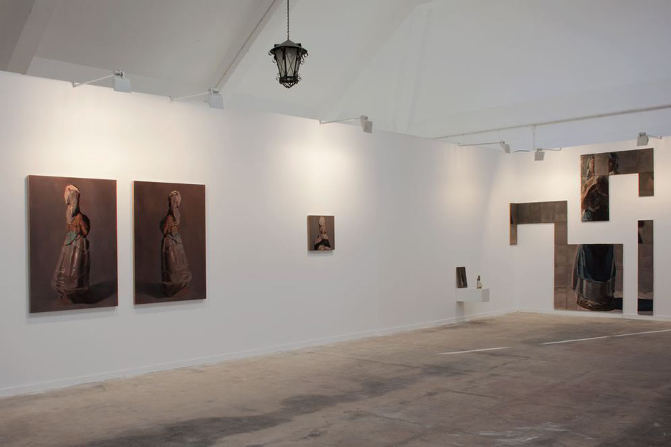 Il futuro non é ció che era. Installation view at Projectos Arco Lisboa 2018 with JosedelaFuente gallery