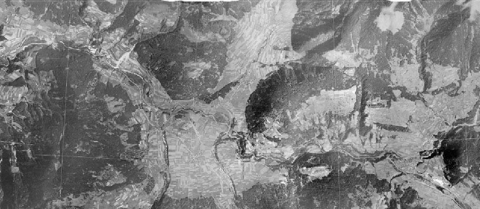 Foto aerea del 1945 - Val Pusteria