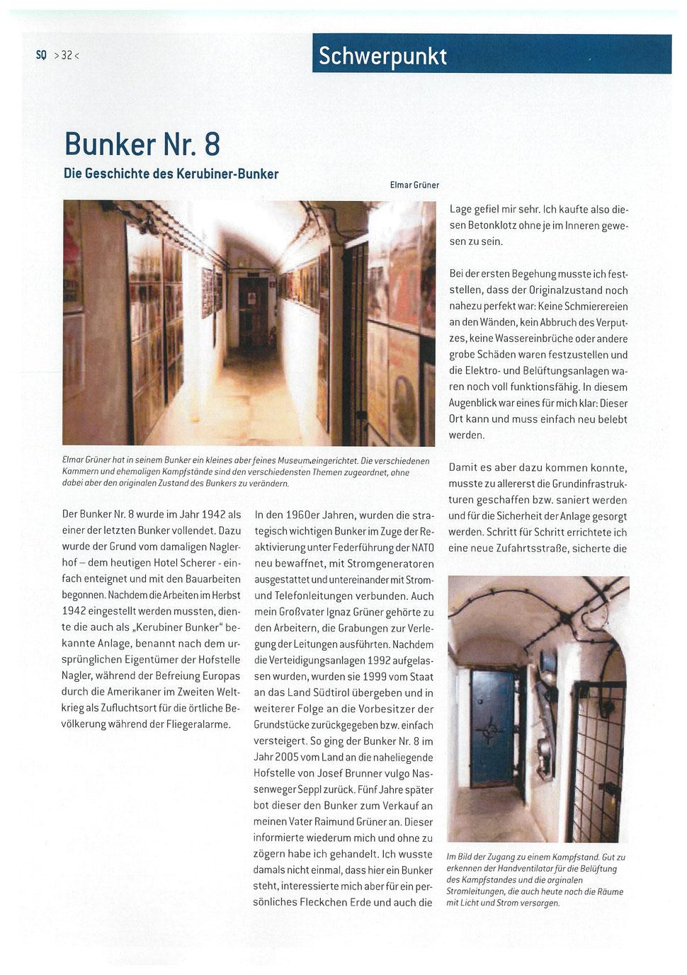 Schwerpunkt Bunker - articolo principale - main article