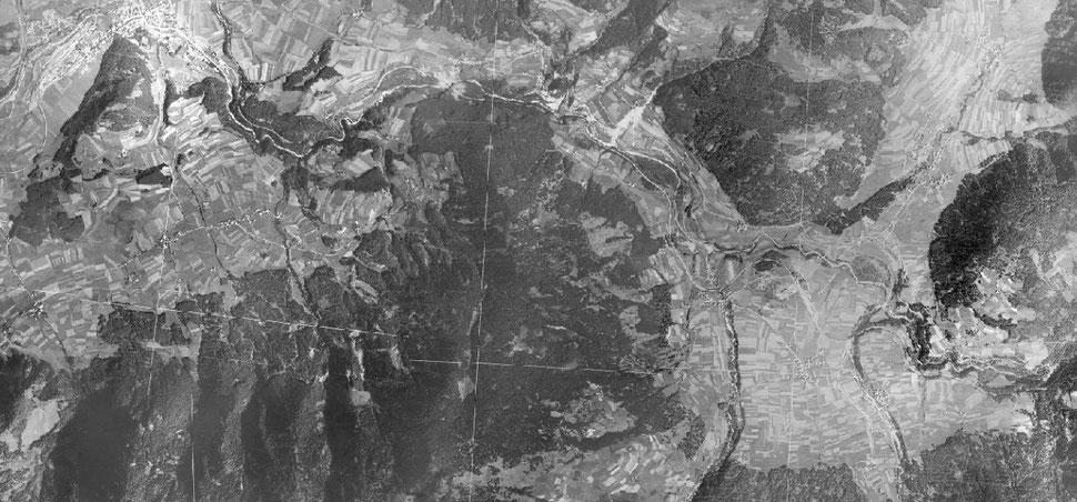 foto aereo dal 1945 - Plan de Corones Perca Valdaora Rasun