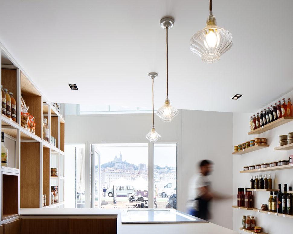 bertrand guillon architecture - architecte - marseille - LA SARTINE - épicerie - vieux port - margaux keller - bonne mère - notre dame de la garde
