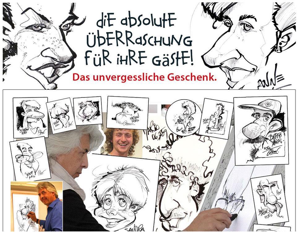 Schnellzeichner Berlin, Karikaturen, Schnellkarikaturist und Portraitszeichner Betriebsfeste in Berlin, Betriebsfeste in Berlin, Betriebsjubiläum, Jubilare, Firmenfeiern, Betriebsfeier, Sommerfeste, Weihnachtsfeiern, Tag der offenen Tür, Neueröffnungen!