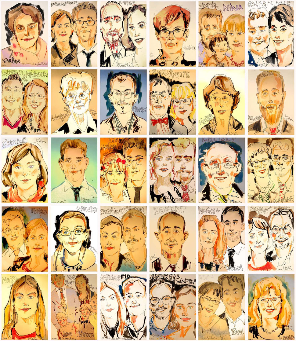 Schnellzeichner in der Region Augsburg auch als Karikaturistin und Eventzeichnerin buchbar und immer ein Erlebnis. Kunstmaler in Augsburg für hohe Ansprüche bei Hochzeiten, runde Geburtstagen und Firmenfeiern! Eine bleibende Erinnerung zum mitnehmen.