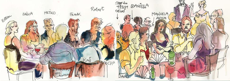 Karikatur Zeichnerin im Raum Karlsruhe und auch als Karikaturzeichnerin jederzeit auf Messe, Hotel, Gastronomie entstehen diese kleine Kunstwerke an Ihrer Feier und das Publikum kommt aus dem staunen nicht mehr raus. Jetzt schnell Termin sichern! TOP