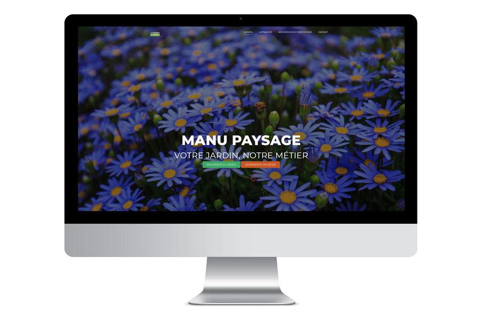 Création de site internet et reportage photo entreprise - Manu Paysage Herbignac