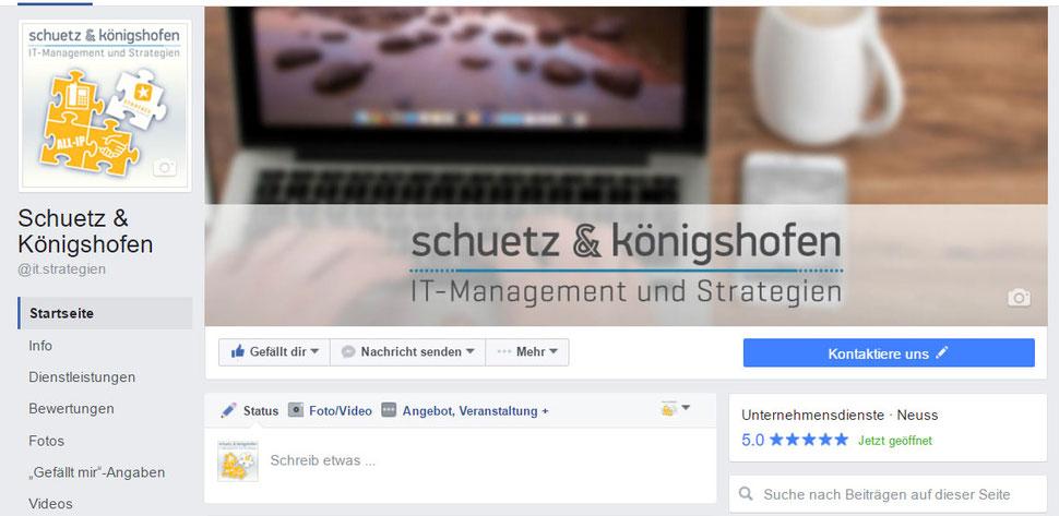 Die Facebook-Seite wurde gestaltet und Profilbild erstellt.