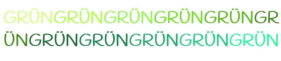 Grün - Farbkollektion Grün