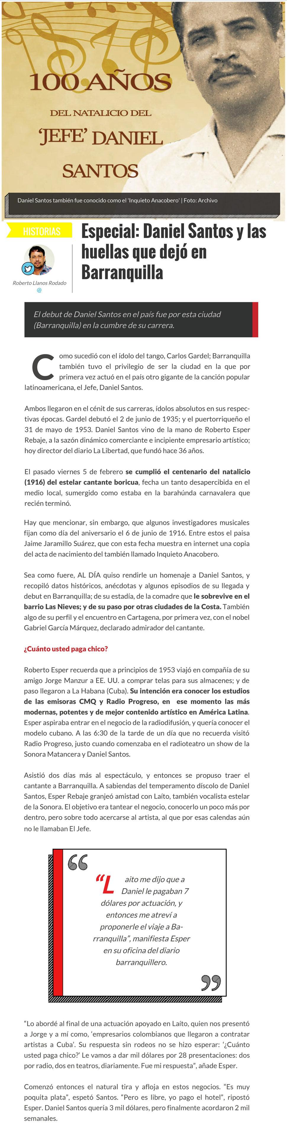 DANIEL SANTOS - Página web de acme-cali