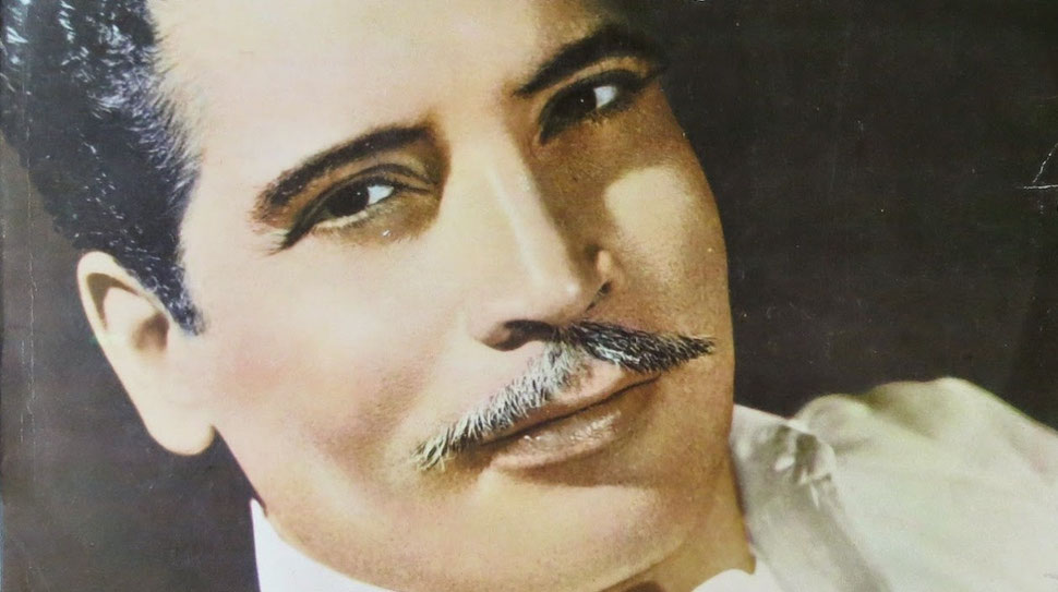 El cantante Daniel Santos (1916 - 1992).