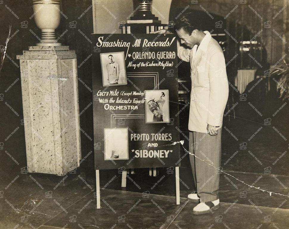 Orlando Guerra en Puerto Rico - 1942.  Foto tomada de Gladys Palmera.