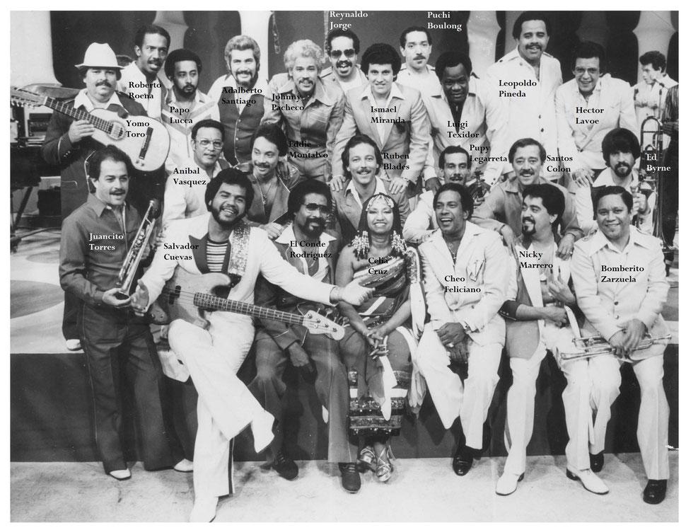 Acme rumbo a los 50 años de la Fania All Star a conmemorase en el 2018 - Foto de las Estrellas de Fania en 1981.