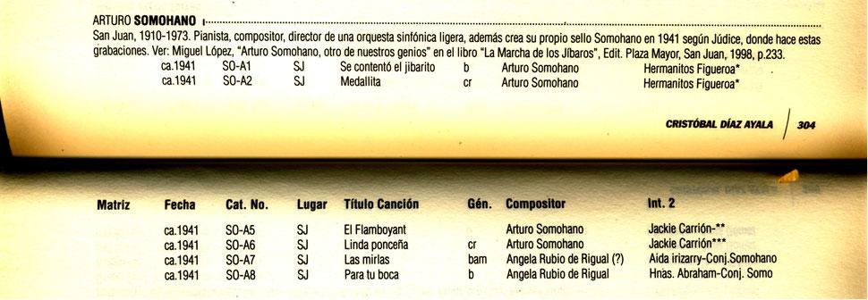 """1941 - Orquesta Arturo Somohano - Charlie canta con su hermana Carmencita como """"Hermanos Figueroa""""."""