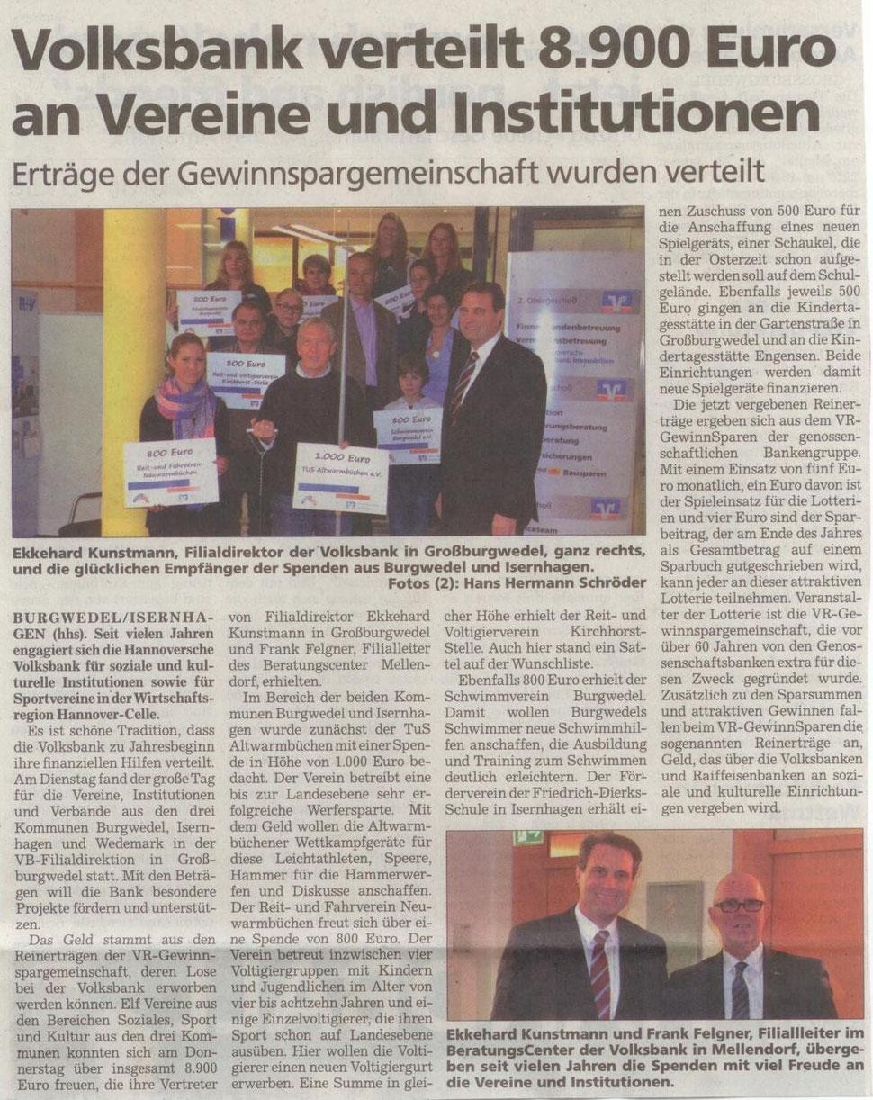 Burgwedeler Nachrichten 23. Januar 2016