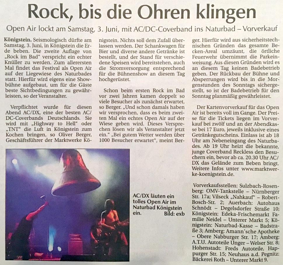 Rock im Bad Königstein Klaus Hafner Oliver Berger Naturbad AC/DX
